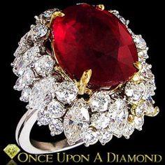 19.70ctw Ruby & Diam beauty bling jewelry fashion