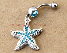 starfish Belly Button Rings starfish belly button by MagicTrip, $6.99