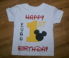 Mickey Mouse Birthday shirt. $22.00, via Etsy.