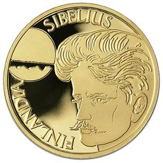Commemorating the most respected Finnish composer. The opening bars of the Finlandia Hymn are engraved on the reverse side and the young Sibelius is depicted on the obverse side. Classical Music Composers, Euro Coins, Romantic Period, World Coins, Notes, Stamps, Banknote, Retro, People