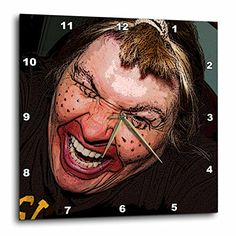 Jos Fauxtographee Realistic - Lady Dressed Up Like Ugly Clown for Halloween With Her Face Very Animated, Silly and Scary - 15x15 Wall Clock (dpp_49539_3) 3dRose http://www.amazon.com/dp/B00BDRM52K/ref=cm_sw_r_pi_dp_X4A3wb13A0Q88