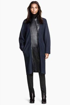 Cappotto lana revers in pelle | H&M