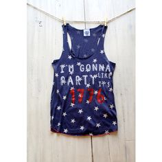 4th of July Shirt Glitter Tank Party Like Its 1776 Tank Tee T Shirt... ($39) ❤ liked on Polyvore featuring tops, t-shirts, black, women's clothing, red shirt, black shirt, beach shirts, beach t shirts and red sequin shirt