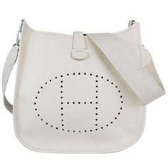 Hermes Evelyne Shoulder Bag Beige leather 6309