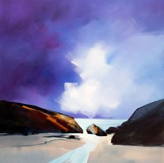 Between the Rocks - Sara Paxton Artwork - 92x92cm
