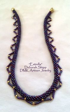 """TUTORIAL ONLY - """"Estrella"""" Kumihimo Necklace - This list is for the PDF instructions only for Kumihimo chain, Estrella by Deborah Shipp, DMK artis - Bead Crochet Patterns, Bead Crochet Rope, Beaded Jewelry Patterns, Bracelet Patterns, Bijoux Wire Wrap, Seed Bead Necklace, Rope Necklace, Beaded Necklaces, Bracelets"""