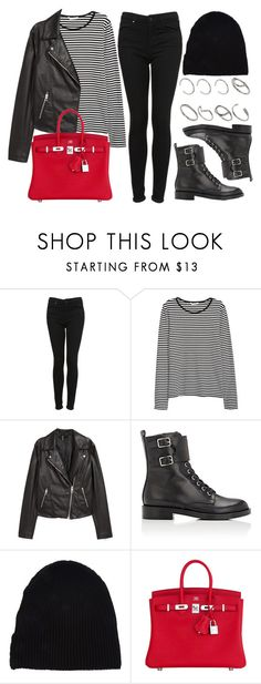 """""""#14086"""" by vany-alvarado ❤ liked on Polyvore featuring Topshop, H&M, Gianvito Rossi, Yves Saint Laurent, Hermès and ASOS"""