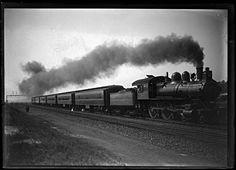 Baltimore and Ohio Railroad Company train, Maryland ca. 1920, John Dubas (fl. 1904-1973), 5 x 7 inch glass negative  Arthur U. Hooper Memorial Collection  Baltimore City Life Museum Collection  Maryland Historical Society  MC9275 .3