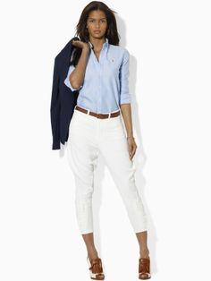 Einfarbiges Megan Oxord-Hemd - Blue Label Hemden & Blusen - Ralph Lauren Deutschland