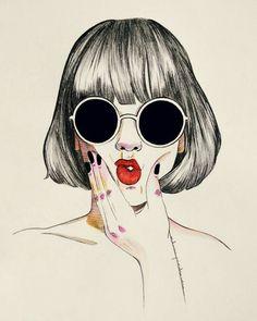 on pencil portrait in 2019 ilustrac Art Pop, Beautiful Drawings, Cute Drawings, Pop Art Illustration, Illustrations, Wallpaper World, Buch Design, Art Watercolor, Anime Art Girl