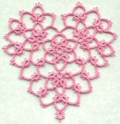 Tatted Lace Designed by Teri Dusenbury Shuttle Tatting Patterns, Tatting Patterns Free, Lace Patterns, Crochet Patterns, Tatting Armband, Tatting Bracelet, Tatting Jewelry, Needle Tatting, Tatting Lace