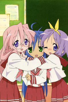 Miyuki, Konata, and Tsukasa — Besties~