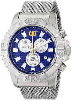 reputable site b4cc9 05497 Caterpillar Mens Alaska Analog Display Quartz Watch Metal Blue Dial Sport  Watches, Watches For Men