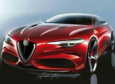 Alfa Romeo Giulia Design Sketch (Source: Auto&Design Magazine)
