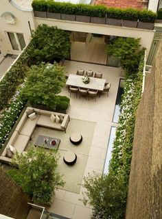 A London roof terrace Bowles & Wyer tailor-made garden design in Lo . - A London roof terrace Bowles & Wyer tailor-made garden design in London – garden design 2019 - Roof Terrace Design, Rooftop Design, Rooftop Terrace, Small Terrace, Green Terrace, Terrace Floor, Small Courtyard Gardens, Rooftop Lounge, Garden Floor