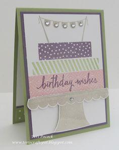 Stampin' Up! - Build A Birthday - Mini Card .... Teri Pocock - http://teriscraftspot.blogspot.co.uk/2015/05/build-birthday-mini-card.html
