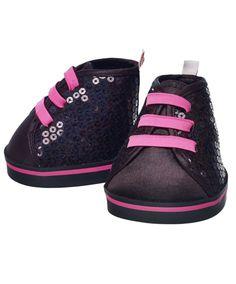 Honey Girls Black Sequin Shoes | Build-A-Bear