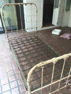 Antique Cast Iron Bed 1920's