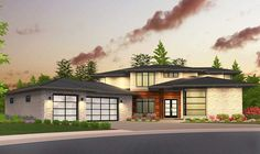 Plan 85146MS: Sleek, Modern House Plan with Second Floor Rec Room