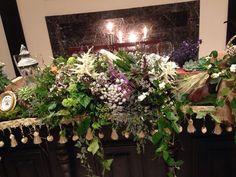 野草、野花を使い、生まれ育った故郷をイメージ!メインテーブル。