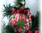 Quilted candy cane ornament