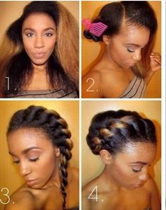 This hair is a cute but quick and easy goddess twist (F.Y.I, this hairstyle is best on Stretched hair for all my natural beauties!)