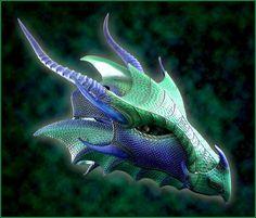 Imperial Sea Dragon Helmet by Azmal.deviantart.com on @deviantART