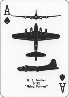 Airplane Spotter Playing Card ~ Ace of Spades
