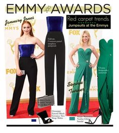 """2015 Emmy Awards red carpet trends: Jumpsuits"" by hamaly ❤ liked on Polyvore featuring Disney, Galvan, Jimmy Choo, Giuseppe Zanotti, Stuart Weitzman, RedCarpet, jumpsuits, CelebrityStyle, emmyawards and emmyredcarpet"