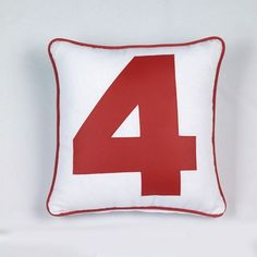 Coussin Euphorie chiffre 4 rouge