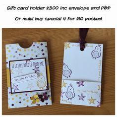 Stampinbell Papercraft - Stampin'Up! UK Independant Demostrator: I've gone gift card crazy!