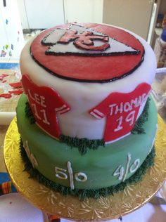 Kansas City Chiefs Groom's cake for Nate