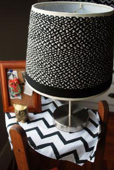 DIY braided lampshade