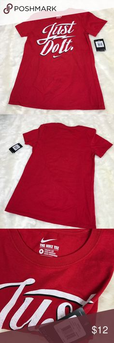 Nike Athletic Cut Tee Please feel free to ask any questions, bundle, or make an offer. Women's Nike athletic cut tee in red. Size medium. New with tags. Nike Tops Tees - Short Sleeve