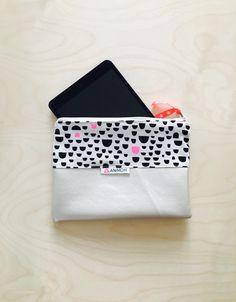 Tablet-PC-Taschen - iPad Mini AniMoh - Lederimitat & Wachsstoff - ein Designerstück von animoh bei DaWanda 22x 15