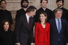 King Felipe VI of Spain and Queen Letizia of Spain attend 'Commemoration Of Cervantes Death' closing ceremony at the Royal Palace on January 30, 2017 in Madrid, Spain.