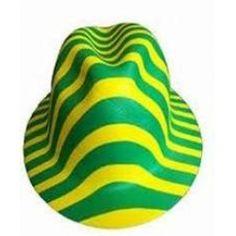 chapeu malandro verde e amarelo