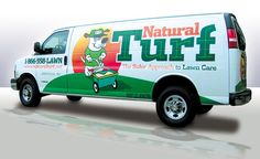 We first designed the logo for this lawn care company, then the design for their vehicles.