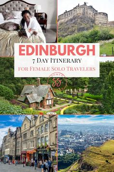 With friendly locals, sprawling castles, and breathtaking landscapes, Scotland is easily one of the best destinations for solo female travelers. This 7 day Edinburgh itinerary for female solo travelers will show you the best things to do alone in Edinbur Voyage Europe, Europe Travel Guide, Travel Guides, Traveling Europe, Scotland Travel, Ireland Travel, Scotland Trip, Edinburgh Scotland, Amazing Destinations