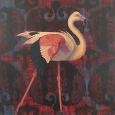 Flamingo by Cynthia Burke, Painting - Oil | Zatista