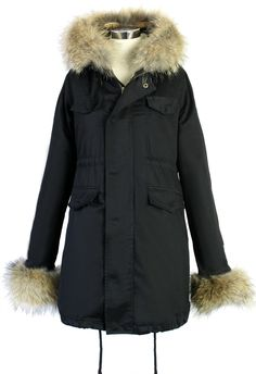 Hit The Road Detachable Faux Fur Jacket in Black - Retro, Indie and Unique Fashion