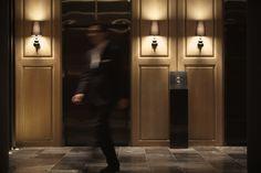 Hotel+Dua+/+Koan+Design I like the elevator call buttons off the wall