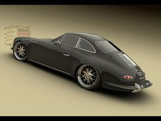 Porsche Panamera 1965 Design Concept by Bo Zolland - Black Rear Angle - 1024x768 - Wallpaper
