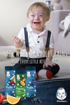 Make every little bite count with Gerber Organic Puffs Puffed Grain Snack. Each serving is made with 2 grams of whole grains, and daily value of Vitamin E and Iron for babies. Tap the Pin to learn more. So Cute Baby, Pretty Baby, Cute Kids, Cute Babies, Little Babies, Little Ones, Baby Kids, Beautiful Children, Beautiful Babies