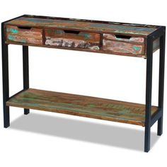 vidaXL Příborník se 3 zásuvkami z masivního recyklovaného dřeva[4/8]