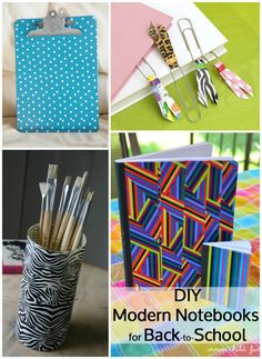 Back to school duct tape projects: 30 DIY duct tape tutorials.  Not sure I like most of these crafts, as they definitely look DIY, but some are cute...
