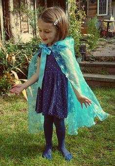 Elsa Cap congelés Costume de princesse de la Reine de glace Cloak