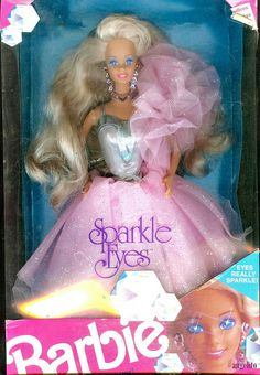 """"""" Sparkle Eyes """" Barbie 1992 what the Barbies I grew up with looked like"""