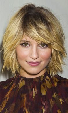 Dianna Agron >>> I WISH MY HAIR WOULD DO THIS! short haircuts, short hair styles, fine hair, short hairstyles, dianna agron, bob hairstyles, textured hair, bob haircuts, new hairstyles