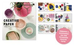 CREATIVE PAPER - Häkeln mit Papiergarn: viele tolle Anleitungen für Accessoires und Homedeko #Rico Design